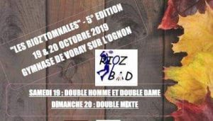 "Tournoi ""Rioz'Tomnales"" édition 2019/2020 @ Gymnase de Voray/Ognon 